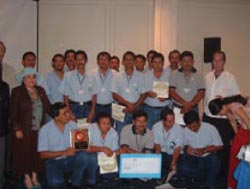 Presentation of Disney Hero Award to the enforcement branch of CONAP 2006
